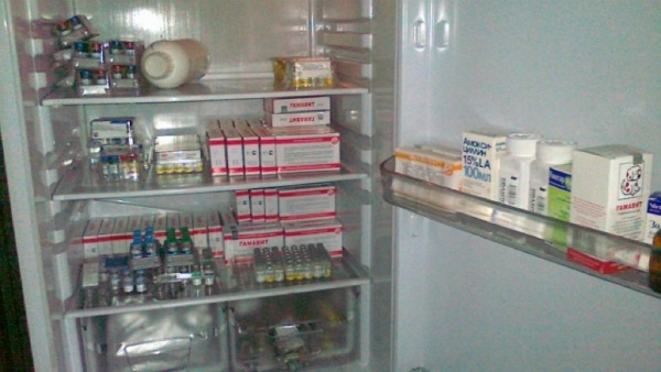 вакцина в холодильнике