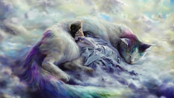 к чему можно снится кошка женщине