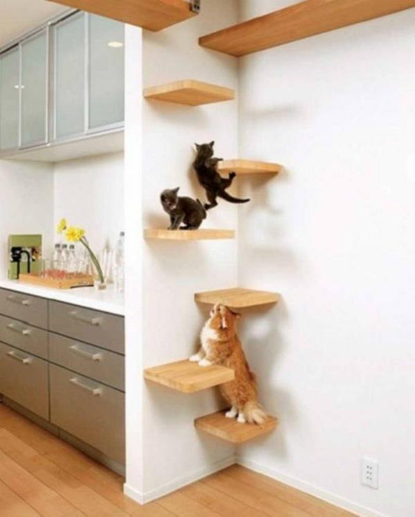 домик для кошки в уголочке