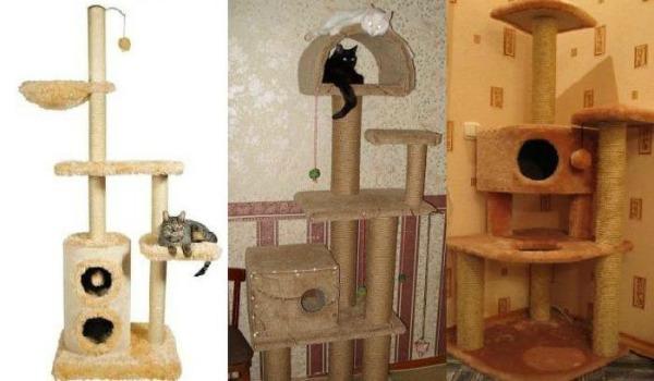 дом для кошки из столбиков